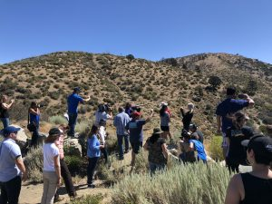 Dr. Lucy Brown leads a tour of San Andrea Fault.